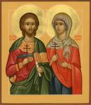 Икона мучеников Адриана и Натальи