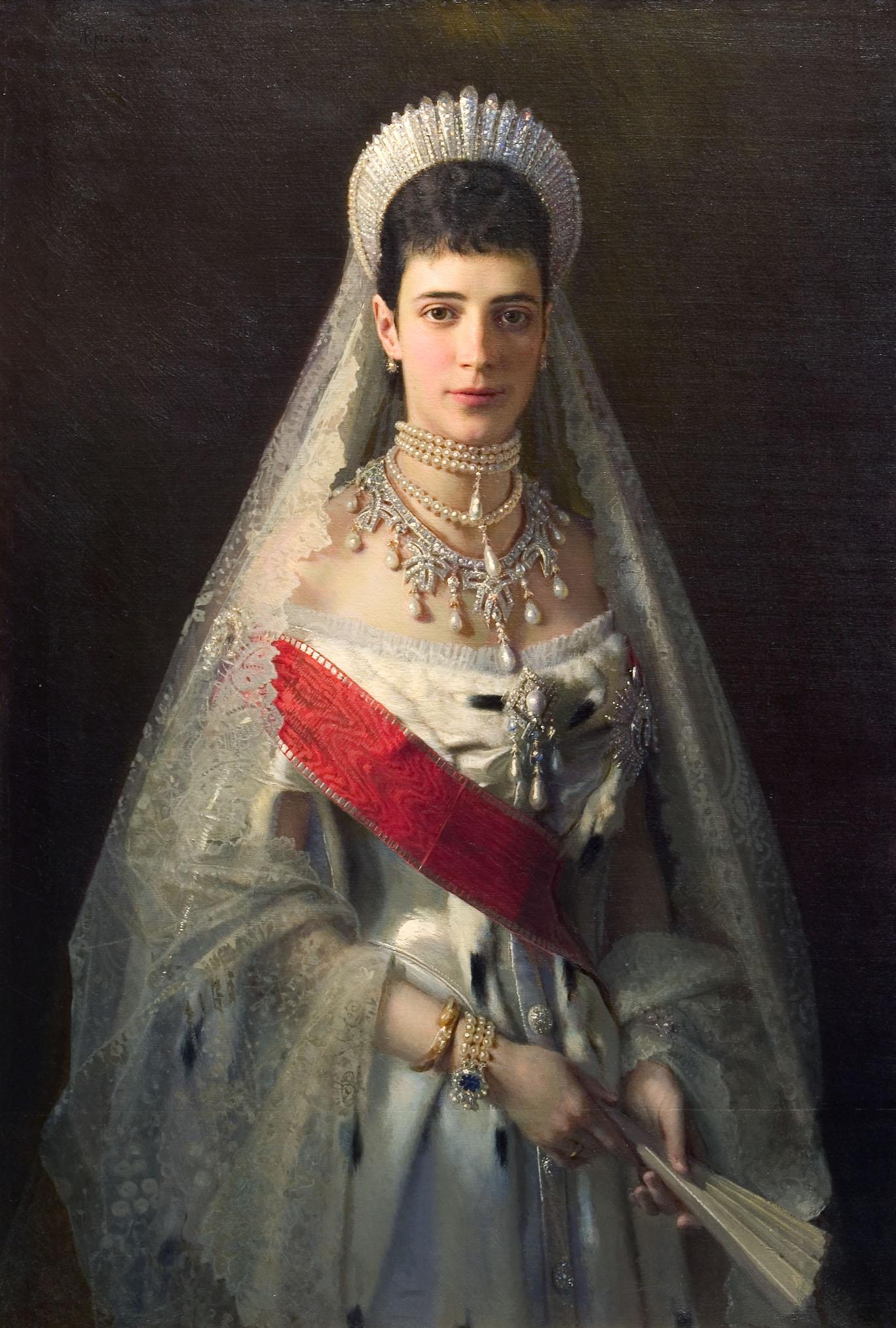 Портрет Императрицы Марии Феодоровны (худ. И.Н. Крамской, 1882 г.)