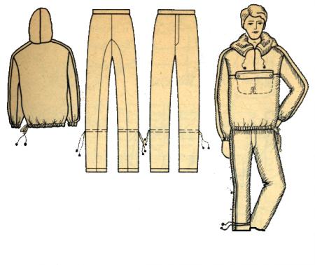 Рис. 1. Влаговетрозащитный костюм