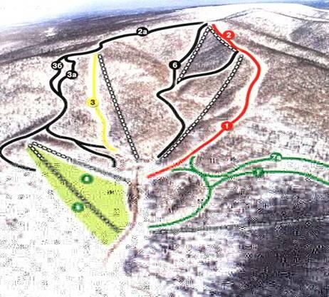 Рисунок 1 . Схема трасс г/к «Аджигардак»