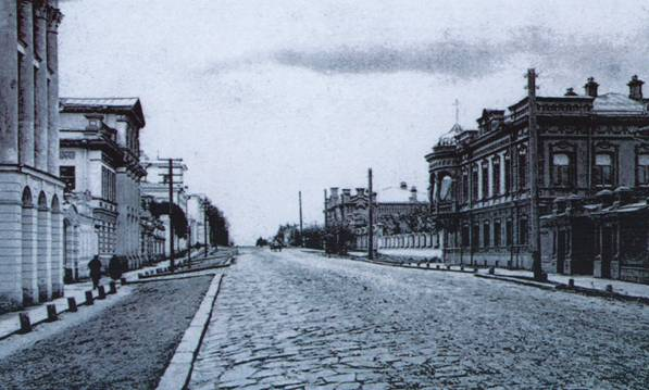Панорама Архиерейской улицы. Фото начала XX века