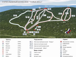 Рисунок 1. Схема горнолыжных трасс на г/к «Абзаково»
