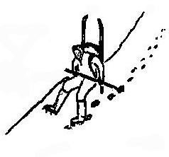 Рис. 8. Спуск по крутому склону