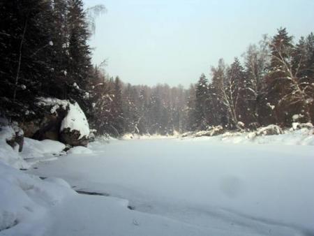 Рис. 16. Река Серга зимой (фото Слепухина А.В. и Бердюгиной Н.)