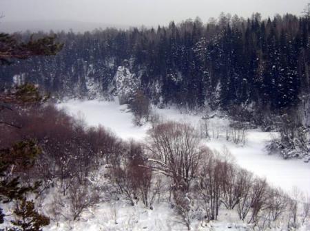 Рис. 17. Филаретов Камень на реке Серга (фото Слепухина А.В. и Бердюгиной Н.)