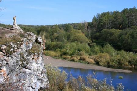 Рис. 21. Фигурка ангела на реке Серга (фото Казакова Р.А.)
