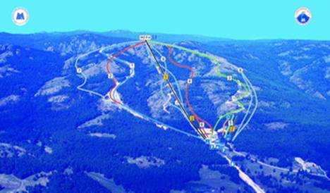 Рисунок 1. Схема горнолыжных трасс г/к Металлург - Магнитогорск