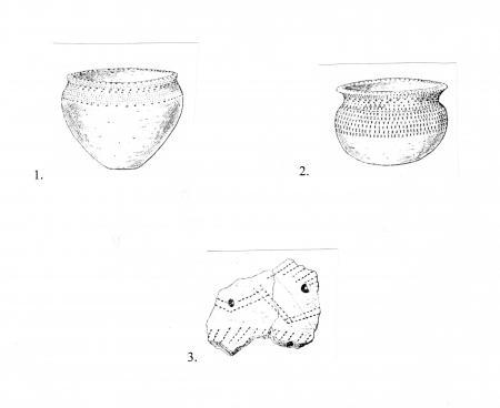 Рис. 17. Керамические изделия, найденные на полуострове Гамаюн