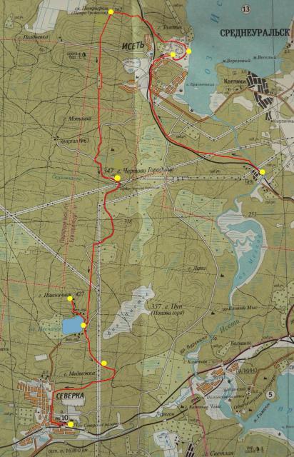 Схема трассы маршрута