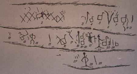 Рис. 8.Изображения «Северской писаницы»