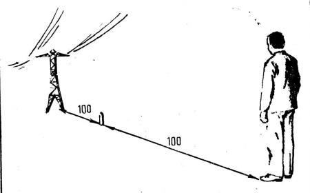 Рис. 8. Определение расстояния путем мысленного последовательного отложения известного отрезка